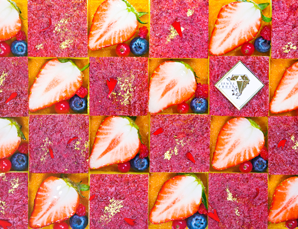 JEWEL FRUITS STRAWBERRY MOSAIC